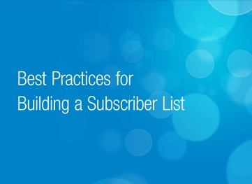Best Practices Email Subscriber List