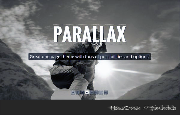 Responsive One Page Parallax Driven by HashtagMarketing.