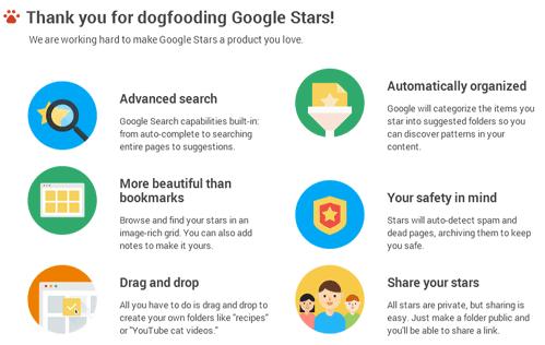 Google Stars Bookmarking Sneak Peek via #hshdsh at @blogs4bytes