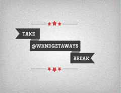 Take Break via #TAKEBREAK @WKNDGetaways