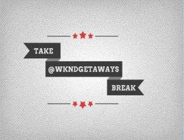 Take Break via #TAKEBREAK @WKNDGetaways